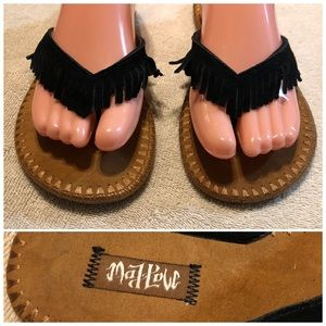 Mad Love leather thong style sandals 7/8